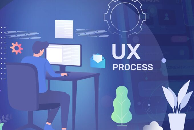 What are the stages of the UX process in Stepwise