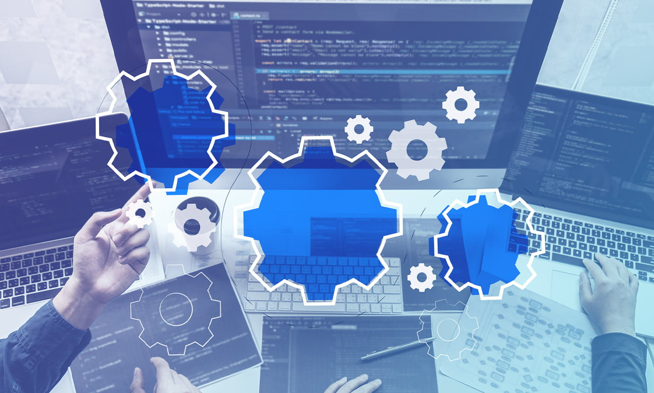 blog post cover - The Process of Developing Custom Software